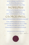Snell Nobel Document (right page) by George Davis Snell